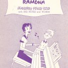 Vintage Ramona Sheet Music Simplified Piano Solo Big Notes & Words
