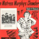 Vintage Who Threw The Overalls In Mistress Murphy's Chowder Sheet Music Texas Rangers On Cover