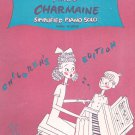 Vintage Miller Charmaine Sheet Music Children's Edition Piano Solo