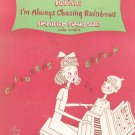 Vintage I'm Always Chasing Rainbows Sheet Music Children's Edition Piano Solo