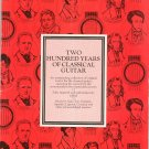 Two Hundred Years Of Classical Guitar Original Works 17th To 19th Century