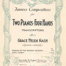 Vintage Parade Of The Wooden Soldiers Grace Nash Sheet Music Two Pianos Four Hands