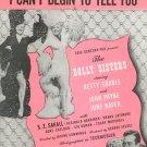I Can't Begin To Tell You Monaco Gordon Sheet Music BVC Vintage