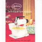 Vintage Sunbeam Deluxe Automatic Mixmaster Mixer Manual And Cookbook