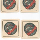 Lot Of 4 Moosehead Canadian Lager Beer Coaster Be A Moosehead Man For Life