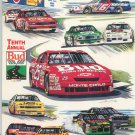Tenth Annual Bud At The Glen NASCAR 1995 Souvenir Program With Patch