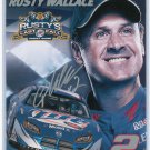 Rusty Wallace Last Call Career Statistics Card Signed? Miller