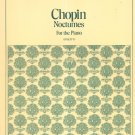 Vintage Chopin Nocturnes For The Piano Student Editions 5014 Schirmer