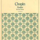 Vintage Chopin Etudes For The Piano Student Editions 5015 Schirmer