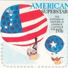 Vintage American Superstars Limerick Calendar For 1976 American Greetings