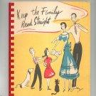 Vintage Keep The Family Record Straight Journal Lane & Plagemann 1949