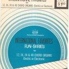 Vintage International Favorites Songs For Chord Organs Fun Series GTR