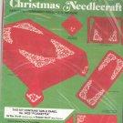 Bucilla Christmas Needlecraft Poinsettia Tablecloth Style 3429 In Package