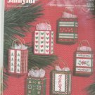 Janlynn Christmas Shopping Bags Ornaments 130-01 Cross Stitch In Package