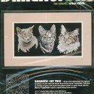 Dimensions Dramatic Cat Trio 3967 Cross Stitch In Package