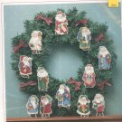Sunset Old Fashioned Santa Ornaments Ann Craig Cross Stitch Kit In Package 18309