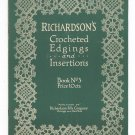 Vintage Richardson's Crocheted Edgings And Insertions Book 3