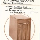 Sears Kennmore Dehumidifier Model 106.850402 Owners Manual With Parts List Not PDF