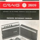 Craig 2609 Portable AM FM Stereo Cassette Radio Recorder Owners Manual Not PDF