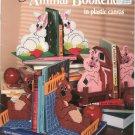 Animal Bookends In Plastic Canvas American School Needlework 3116 Debbie Tabor