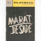 Vintage Souvenir Playbill Marat De Sade Majestic Theatre February 1967 With Expo 67 Brochure