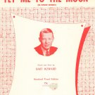 Vintage Bart Howard's Fly Me To The Moon Sheet Music