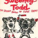 Sweeney Todd Souvenir Program