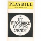 The Importance Of Being Earnest Circle In The Square Theatre Playbill Souvenir 1977