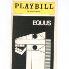 Equus Plymouth Theatre Playbill Souvenir  1976