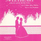 Let Me Call You Sweetheart Sheet Music Song Edition I'm In Love With You Friedman & Whitson