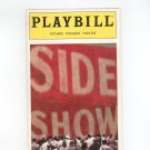 Side Show Playbill Richard Rodgers Theatre 1997 Souvenir