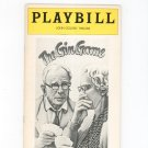 The Gin Game Playbill John Golden Theatre 1977 Souvenir