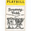 Sweeney Todd The Demon Barber Of Fleet Street Playbill Uris Theatre 1979 Souvenir