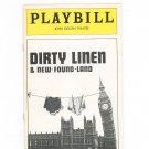 Dirty Linen & New Found Land Playbill John Golden Theatre 1977 Souvenir