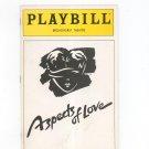 Aspects Of Love Playbill Broadhurst Theatre 1990 Souvenir