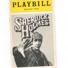 Sherlock Holmes Playbill Broadhurst Theatre 1975 Souvenir