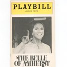 The Belle Of Amherst Playbill Longacre Theatre 1976 Souvenir