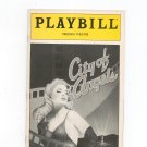 City Of Angels Playbill Virginia Theatre 1990 Souvenir