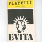 Evita Playbill The Broadway Theatre 1982 Souvenir