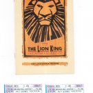 The Lion King Stagebill With Ticket Stubs New Amsterdam Theatre 1998 Souvenir