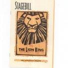 The Lion King Stagebill New Amsterdam Theatre 2000 Souvenir