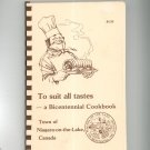 To Suit All Tastes A Bicentennial Cookbook Town Of Niagara On The Lake Canada