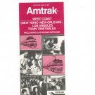 Vintage Amtrak West Coast New York New Orleans Los Angeles Train Timetables 1976 Not PDF