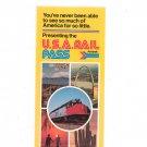 Vintage Amtrak USA Rail Pass Brochure 1976 Not PDF