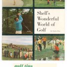 Shell's Wonderful World Of Golf 1963 Charles Price With Golf Tips Brochure