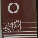 1986 Minetas Yearbook Year Book Leechburg High School Pennsylvania With Program and Invitation