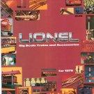 Vintage Lionel Big Scale Trains & Accessories Catalog 1978 Not PDF
