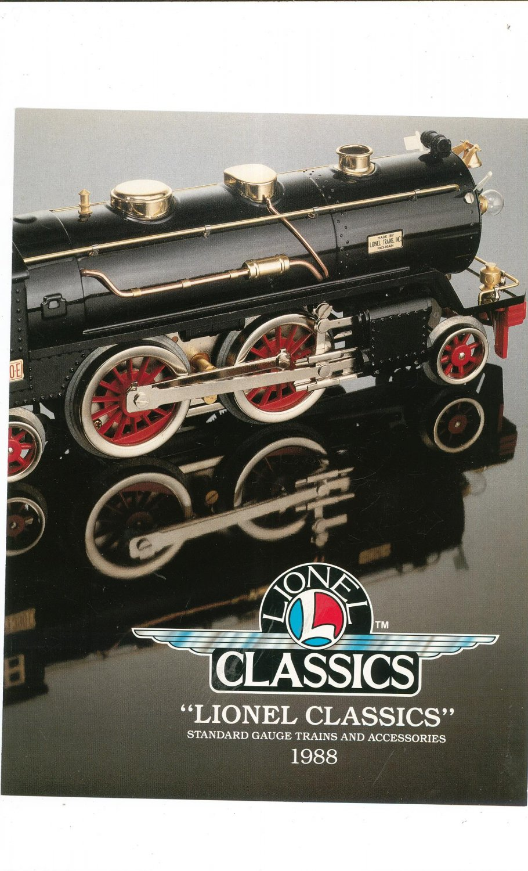 Vintage Lionel Classics Trains Brochure 1988 Standard Gauge Not PDF Free Shipping Offer