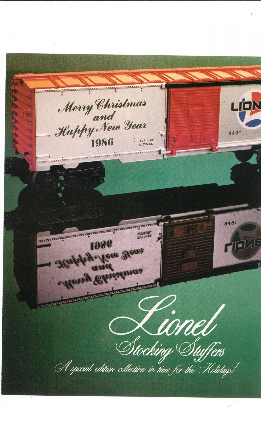 Vintage Lionel Stocking Stuffers Trains Brochure 1986 Not PDF Free Shipping Offer