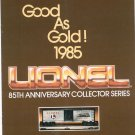 Vintage Lionel Collector Series Trains Good As Gold Catalog 1985 Not PDF Free Shipping Offer